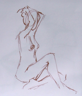 2 minute life drawing sketch
