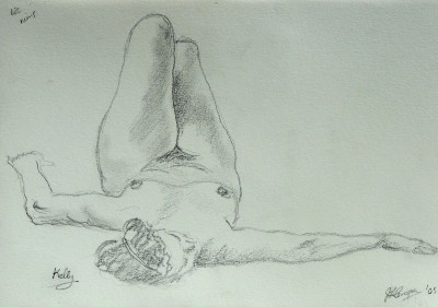 Life drawing classes in Languedoc Roussillon - drawing by Jill Cooper