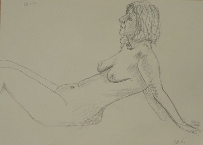 Sketch of a reclining nude
