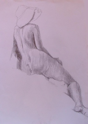 Jane Down Life Drawing